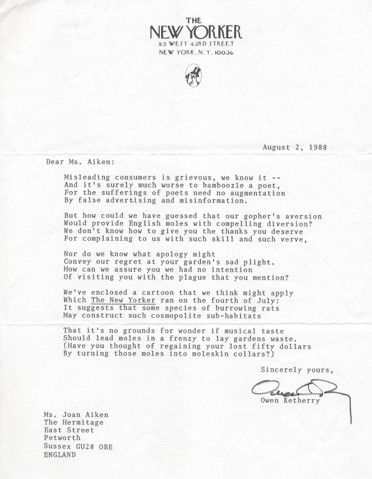 JA Moles NY poem